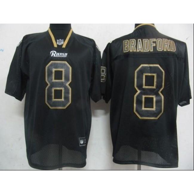 Rams #8 Sam Bradford Lights Out Black Stitched NFL Jersey