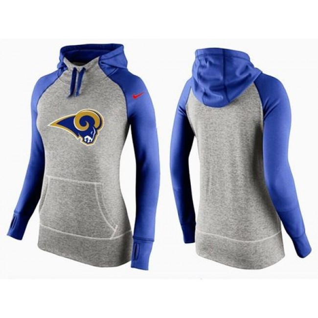 Women's St.Louis Rams Hoodie Grey Blue-2 Jersey